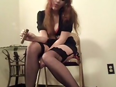 oldschool fetish vid with a big cigar and some