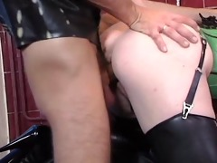 daniella rush leather double penetration and anal