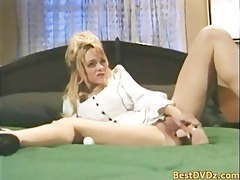 buxom blonde girl acquires shoved on daybed