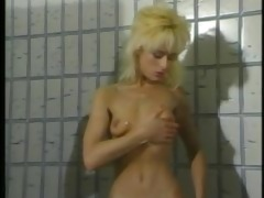 vintage blonde has soapy orgasm in shower
