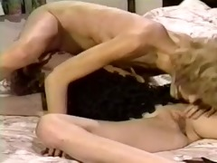 immodest retro twin sisters in a hot lesbo action