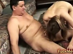 old ramrod bonks young pussy