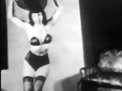 vintage stipper film - b page hat dance