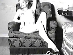 vintage porn movie of a lady in stockings