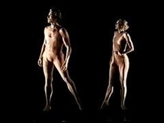 erotic dance performance 06 - rodins the kiss