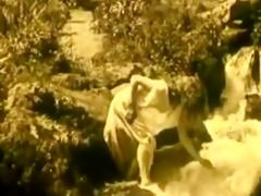vintage erotic video 4 - bare gal at waterfall