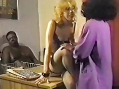 interracial trio in retro episode scene