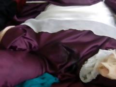 silky mauve robe jerk off