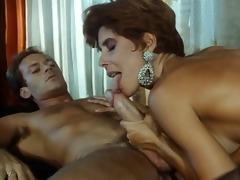 sexy italian with hirsute cum-hole fucks her boy