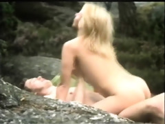 captivating retro outdoor fucking