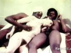 charming retro threesome fucking
