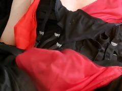 stocking jerk off suspender &; slide cum