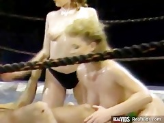 busty oiled gals gets nailed by tutor
