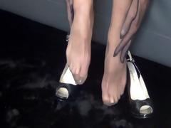 foot fetishism. i slip a stocking string and i