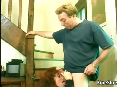 sexually lewd older hooker receives that is wet
