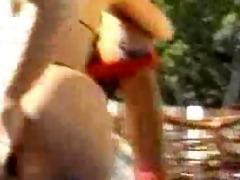 nina hartley butt fucked by the pool