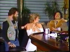 vintage biker bar gang group sex