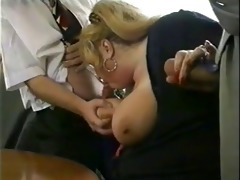 vintage - big beautiful woman blond three-some
