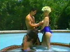 ladyboy three-some pool fantasy
