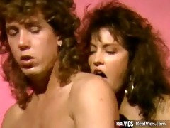 vintage three-some act on daybed