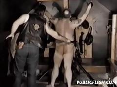bulky bear retro homosexual flogging