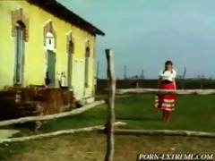 soldier gives riding to young village girl