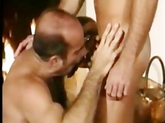 hairy daddy copulates hot guy