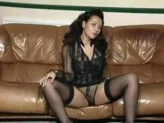 vintage aged large tit striptease