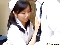japanese asian nurse sucking shlong