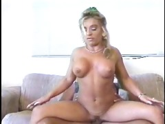 beautiful, busty blond gets nailed on the couch,