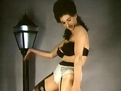 leopardskin striptease - vintage stockings large